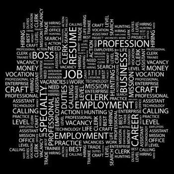7339786-emploi-mot-collage-sur-fond-noir-illustration